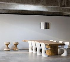 dining-rooms-gray-light-wood-concrete-floors-dining-chairs-dining-tables-exposed-beams