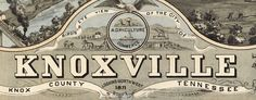 Ruger's #map of #Knoxville, #Tennessee (1871) - http://www.bigmapblog.com/2012/rugers-map-of-knoxville-tennessee-1871/
