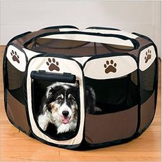 Foldable 8 Panel Pet Dog Cat Rabbit Puppy Playpen Run Cages Tent Fence ** Remarkable product available now. : Dog house