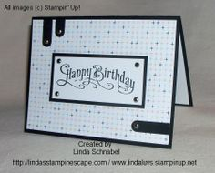 Quick and Easy card created with the Perfectly Penned stamp set.  http://lindasstampinescape.com
