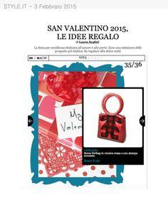 Style.it del 3 Febbraio parla della #biribag come idea regalo per San Valentino