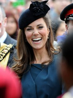 Kate Middleton, the Duchess of Cambridge, flashes her lovely smile