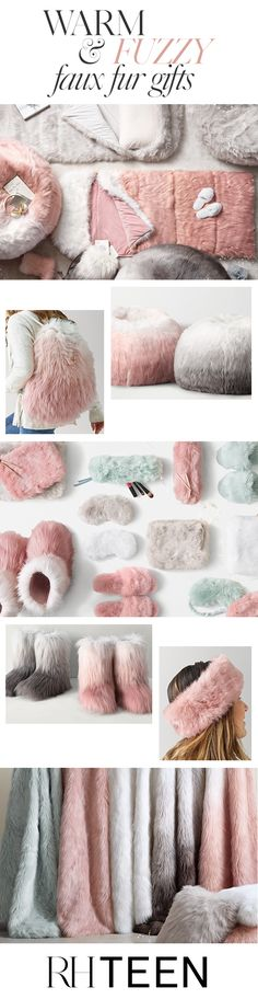 Give your teen a dose of glamour this holiday season with sumptuous faux fur gifts. Ultra lush and luxurious, our fur offers the indulgent feel of the real thing. Shop luxe faux fur gifts at RH TEEN.