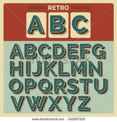 Retro vector latin type/ font / alphabet on scratched backdrop. Vintage bold typography