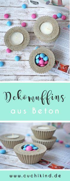 Great DIY Dekomuffins aus Beton als Teelichthalter
