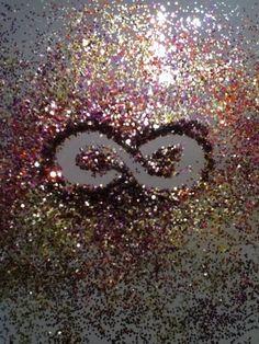 Glitter Infinity Sign   We Heart It