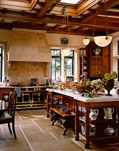The Enchanted Home: Island Fever...Stunning kitchen!