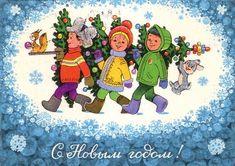 Новогодние открытки художника Владимира Зарубина - Ярмарка Мастеров - ручная работа, handmade