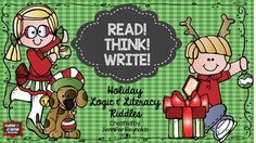 It's here! It's here! So be of good cheer!  My December logic and literacy pack includes six thematic sets of picture clue cards and riddles that are sure to keep your young learners interested in learning all the way up to the last day before winter break!  ELA  $