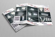 Tri Fold Brochure for LED lightings manufacturer on Behance