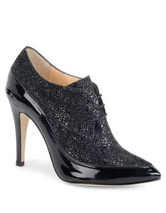 Shoes | Women's Shoes | Madaline Patent Leather and Suede Oxford Booties | Lord and Taylor