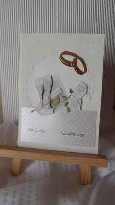 Cartes félicitations mariage dominance ivoire et beige : Cartes par made-by-newscrapeuse