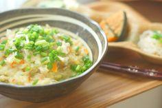 今日の朝ごはん  ・おじや ・おかず三品(漬物、かぼちゃ煮、明太白滝)  お弁当の米が残ってるし、パスタの具も残ってるしーってことで、はじけて混ざれ( •̀ .̫ •́ )✧的なおじやさん。おやじではないですよ(震え声 笑 …  -  Shinnosuke Tsunogae - Google+