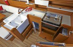 Plenty of galley space in the Jeanneau Sun Odyssey 41 DS http://www.jeanneau.com/boats/Sun_Odyssey_41DS.html