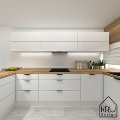 Scope of the project: kitchen - 2 versions of KRU Design Kitchen Pantry Design, Modern Kitchen Design, Home Decor Kitchen, Kitchen Living, Interior Design Kitchen, Kitchen Furniture, New Kitchen, Home Kitchens, Design Moderne