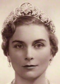 Tiara Mania: Queen Mary of the United Kingdom's Gloucester Honeysuckle Tiara worn by Princess Alice, Duchess of Gloucester