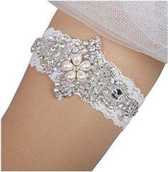 Prettybabyonline Women s Wedding Bridal Garter Set Belt Series Lace Crystal  Rhinestone Bridal Lace 76b8b835c156