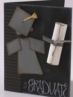 graduation {create for a scrapbook page or framed artwork! Graduation Scrapbook, Graduation Cards, Graduation Ideas, Cute Cards, Diy Cards, Congratulations Card, Card Tags, Card Kit, Paper Cards