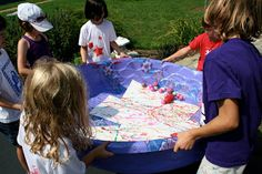 * Mom Would Never Let Me Do This At Home Camp: Giant Marble Painting Outdoors with Kids!