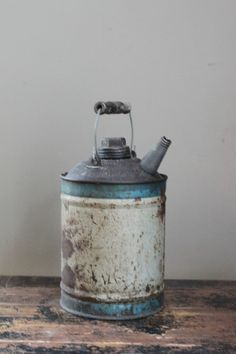 Vintage Rustic Oil Can by MyVintageLane on Etsy, $15.00