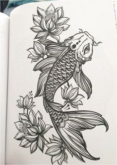 10 Mysterious Koi Fish Tattoo Designs and Meanings Tattoos And Body Art koi tattoo design Pez Koi Tattoo, Coy Fish Tattoos, Koi Tattoo Sleeve, Body Art Tattoos, Koi Fish Tattoo Meaning, Koi Fish Tattoo Forearm, Koi Tattoo Design, Tattoo Design Drawings, Thigh Tattoo Designs