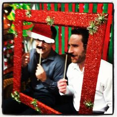 DIY photo booth for holiday parties