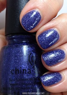 China Glaze All Wrapped Up  - click thru to see the rest of my favorite blue polishes from 2013!