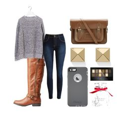 """""""Untitled #19"""" by embozant on Polyvore featuring Forte Forte, Bamboo, The Cambridge Satchel Company, Palm Beach Jewelry, OtterBox, Maybelline and Victoria's Secret"""
