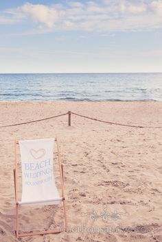 Bournemouth Beach wedding deck chair.  Photography by one thousand words wedding photographers