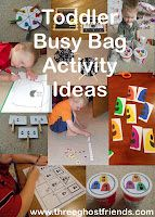 Over 10 Toddler Busy Bag ideas with FREE printable activity sheets - colors, counting, opposites, shapes, matching, puzzles, sorting, tracing, etc. Great for tot school, preschool, homeschool.
