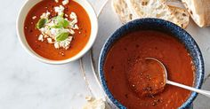 Slow roasted tomato and capsicum combine in this rich, high fibre vegetarian soup.