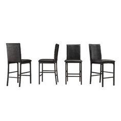 17 Stories Arek Counter & Bar Stool | Wayfair Counter Height Dining Table, Counter Bar Stools, Counter Chair, Black Stool, Black Cushions, Metal Bar Stools, Catania, Side Chairs, Marble