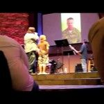 Soldier, Home From Afghanistan, Surprises Son at Church     A soldier returns home to surprise his son. This video was taken from the audience of Heart of the Springs church in Colorado Springs. Joseph and Melinda wanted to surprise their son with his return from Afghanistan one week early!