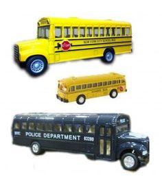 SCHOOL BUS of road Big Wheel Yellow kinsfun TOY model diecast Car present