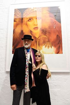 The wonderfully tall Englishman, who smells so great...and the tiny gypsy.  #STEVIENICKS and Mick Fleetwood.  :)