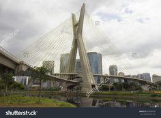 Estaiada Bridge - Marginal Pinheiros, Sao Paulo, Brazil