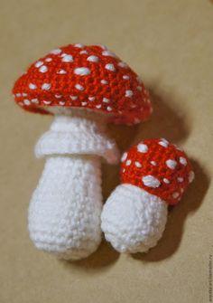 épinglé par ❃❀CM❁✿Crochet Mushroom Pin Cushion