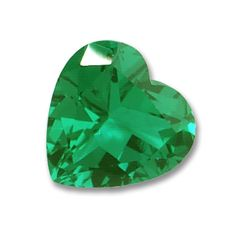 9x9mm Heart Shaped Gem Quality Chatham-Created Cultured Emerald 1.75-2.13 Ct.