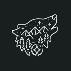 Got to do another one of these wolf/mountain scenes, really fun! #graphicdesign #design #art #artwork #drawing #handdrawn #illustration #wolf #tattoo #linework #slowroastedco
