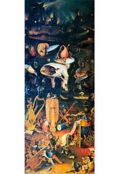 Hieronymus Bosch The Garden of Earthly Delights Hell Art Print Poster - 13x19 $0.99