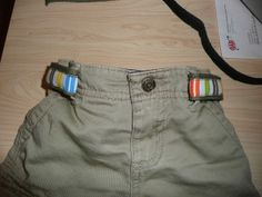 This is genius.  I need about a dozen of these for Ric.  Regular belts make diaper changes take longer.