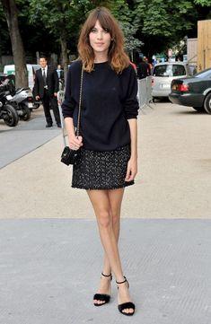 Alexa Chung Mini Skirt - Mini Skirt Lookbook - StyleBistro