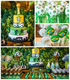 World Cup themed birthday party with So Many Fabulous Ideas via Kara's Party Ideas | Cake, decor, favors, games, printables, and more! Karas...