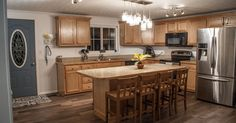 This kitchen remodel in West Chester, PA, features Dura Supreme Cabinetry (Crestwood with Vintage Beaded Panel Door).