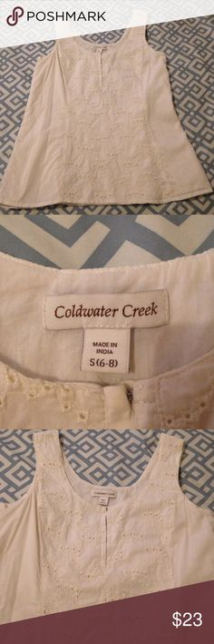 Coldwater Creek white top Beautiful fit, eyelet top, the perfect top for that perfect summer outfit Coldwater Creek Tops