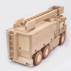 Wooden fire truck от DesLineToys на Etsy
