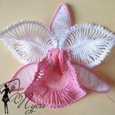 Orquídea de crochê com PAP | Belas em ação | Belas em ação