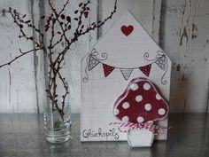 Deko-Objekte - Glückspilzhaus *RED* - ein Designerstück von pabst96 bei DaWanda
