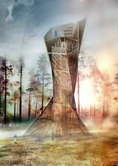 Italian Architects to Build Tree-Inspired Lookout Tower in Bruneck