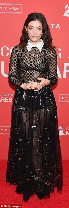 Legs 11! The bottom half of the dress was sheer so as to give a clear view of the Royals s...